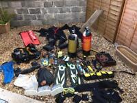 Professional scuba gear