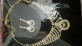 Necklace and Earrings. Brand new