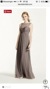 David's Bridal Bridesmaid Dress - Size 12