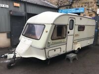Abi Ambassador gt 5-berth caravan 90s-spec complete with awning toilet shower all hook-ups! £750!!