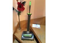 g tech cordless floor vaccum cleaner nearly new . Has light on front , easy to keep clean and empty.
