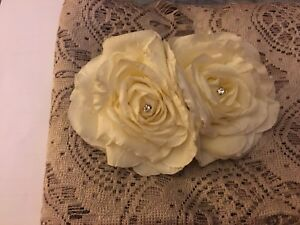 Bridal Hair flower clip with crystals