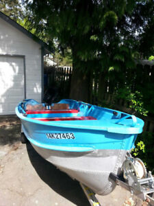 14' Aluminum boat with motor and trailer