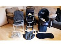 Quinny Buzz 3 Pushchair Pram Stroller - With Adapters & Raincover