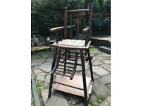 Beautiful antique French, Rare Nursery, Multi Purpose High Chair, converts into Play Desk