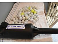 Practice golf balls and clicker tube for sale