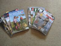 METAL DETECTORIST MAGAZINES. BACK COPIES OF THE SEARCHER AND TREASURE HUNTING