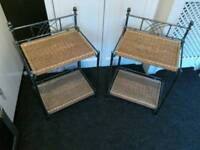 Metal side tables x 2