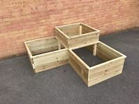 Wooden planter (three tier)