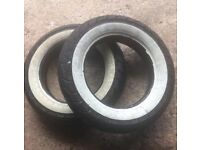 "2 x 10"" x 3.5"" Part worn scooter tyres"