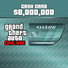 Grand Theft Auto $8,000,000 Megalodon Shark Cash Card for PC