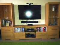 Oak Effect TV/Display Unit (3 Sections)