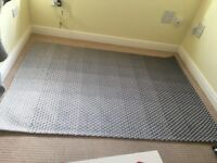 Grey weave Next rug - never been used