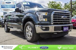 2015 Ford F-150 XLT|5.0L|V-8|4X4|SUPERCREW|FORD CERTIFIED