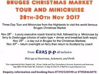 Tour /Minicruise from the Highlands to Belgium - Nov. for Christmas Markets