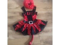 Devil costume with red wig 14-16yrs
