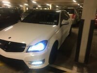 Mercedes c class c63 bumper with led DRL 2008