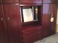 Wardrobe & drawers with mirror unit for sale