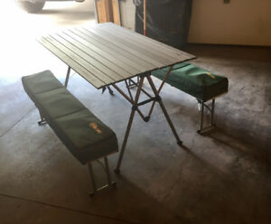 Great Table Bought at WOODY'S RV - FOLDS up COMPACT