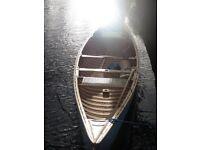 Canadian Canoe, Cedar Wood and Canvas. Beautiful hand built traditional canoe.