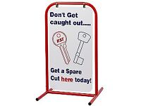 Sales Booster - Key Cutting Swing Sign