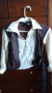 Used Once  Still Brand New Pirate Costume For Boys