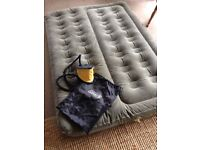 Coleman double airbed used once festivals camping
