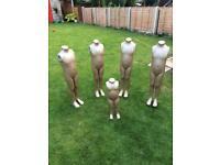 Child mannequins x 5