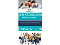 Urgent Properties required for Student Lettings