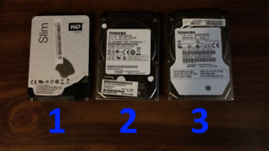 "Various 2.5"" Internal Hard Drives"