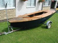 Vintage Cadet Sailing Dinghy Project requiring restoration