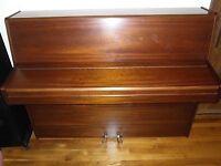 Knight upright piano, mahogany finish, excellent condition