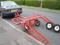 ONE MAN TOWING DOLLY,A FRAME,CAR TRAILER,TRANSPORTER,SPEC LIFT TYPE.