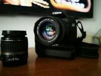 Canon EOS 30D plus two lenses & battery grip