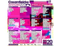 Creamfield Gold VIP Saturday day tickets for sale