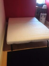SOFA BED IKEA LYCKSELE WITH BLACK COVER