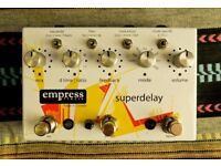 EmpressEffects Superdelay (echo/delay) and EmpressEffects Phaser - GUITAR EFFECTS PEDALS FOR SALE