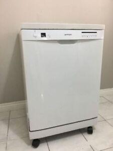 """24"""" white portable white outside & stainless steel inside"""