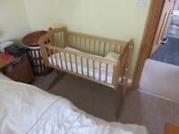 Wooden rocking cot / crib