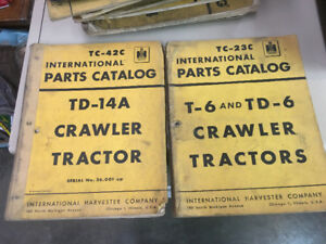 IHC TD14A, T6, TD6 Crawler Tractor Parts Manuals