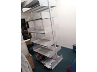 Six tier heavy duty shelving unit - Both sizes.