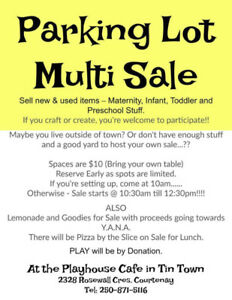 Parking Lot Multi-Sale!