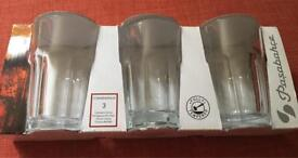 Casablanca glass ice tea glasses, tall tumblers 3 pack new. 6 packs available.