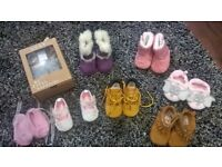 Baby clothes and shoes bundle 0-9 months