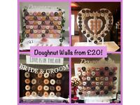 Doughnut wall for weddings