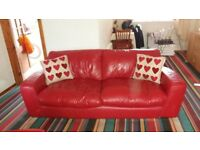 Modern Red Leather Suite