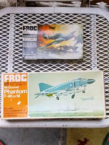 vintage antique model AIRPLANE kits frog