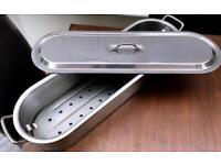Poissonniere: Fish Kettle Poacher Steamer Pan