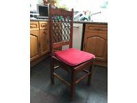 6 Indian Jali / Sheesham wood dining room chairs