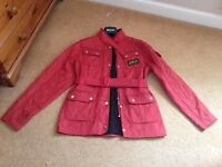 Girls Barbour Red Quilted Jacket